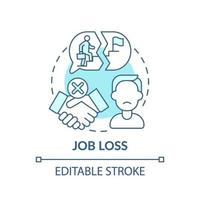 icona del concetto di perdita di lavoro vettore