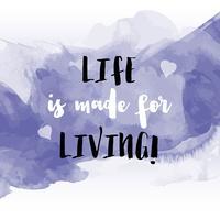 Inspirational quote sfondo acquerello