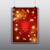 Design di cartolina di Natale vettore