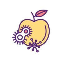 icona di colore di cibo sporco vettore