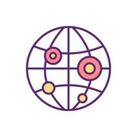 icona di colore della pandemia vettore