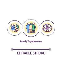 icona del concetto di solidarietà familiare vettore