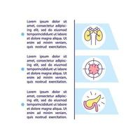 icona di concetto di condizione medica cronica con testo vettore