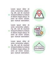 icona di concetto di requisiti di programma con testo vettore