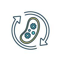 icona del colore del processo biologico vettore