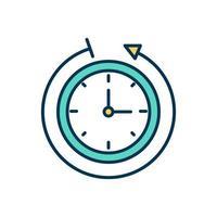 icona del colore di monitoraggio del tempo vettore