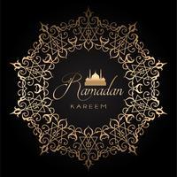 Sfondo oro e ramadan nero vettore