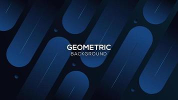 sfondo astratto geometrico blu. composizione tecnologica di forme dinamiche. illustrazione vettoriale eps10.