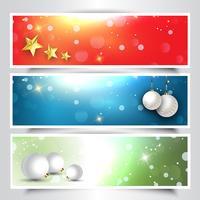 Intestazioni natalizie decorative vettore