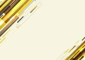 modello moderno astratto strisce diagonali gialle geometriche e linee sovrapposte sullo sfondo vettore