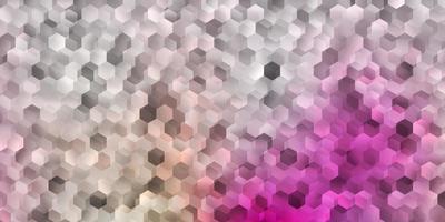 sfondo vettoriale rosa chiaro con forme esagonali.