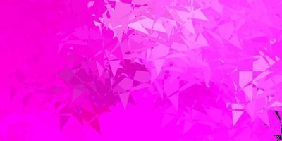 sfondo vettoriale rosa chiaro con triangoli.