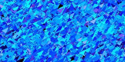sfondo vettoriale rosa scuro, blu con triangoli.