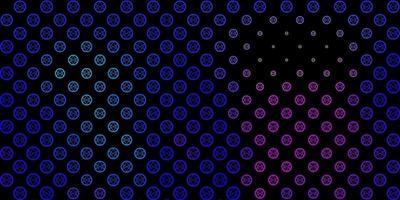 modello vettoriale rosa scuro, blu con elementi magici.