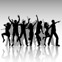 Gente del partito che balla vettore
