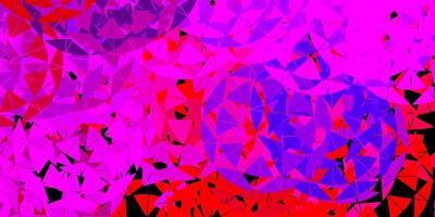 sfondo vettoriale rosa chiaro, rosso con forme poligonali.