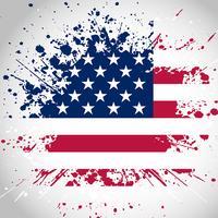 Fondo della bandiera americana di lerciume vettore
