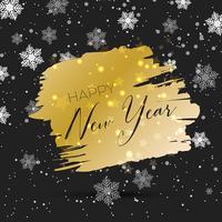 Sfondo oro e nero Happy New Year vettore