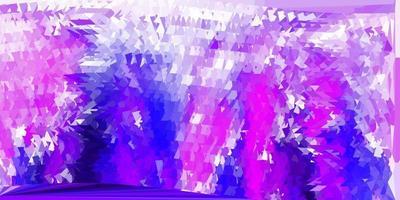 layout di triangolo poli vettoriale viola chiaro, rosa.