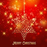 Sfondo stella di Natale vettore