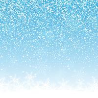 Natale neve sullo sfondo vettore