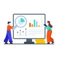 presentazione aziendale o concetto di analisi dei dati vettore
