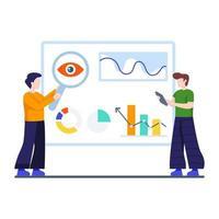 monitoraggio aziendale, analisi o concetto di seo vettore