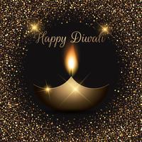 Priorità bassa di celebrazione di Diwali luccicante vettore