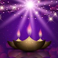 Diwali celebrazione sfondo vettore