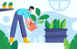 giardinaggio a casa concetto vettore