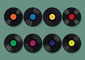 Set di dischi in vinile vettore