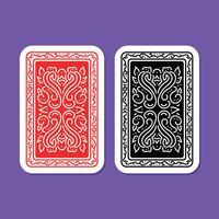 Copertina posteriore di carte da gioco