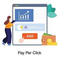 pay per click concept vettore
