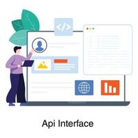 concetto di interfaccia di programmazione dell'applicazione vettore