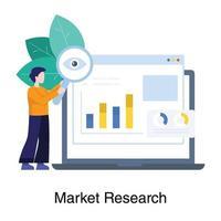 concetto di ricerca di mercato online vettore