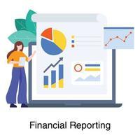 concetto di reporting finanziario online vettore