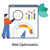 seo e concetto di ottimizzazione web vettore