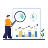 concetto di processo di analisi predittiva vettore