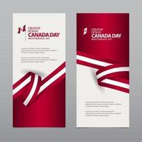 illustrazione del modello di vettore di progettazione creativa felice giorno dell'indipendenza del canada