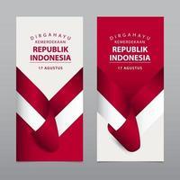 felice illustrazione del modello di vettore del giorno dell'indipendenza dell'indonesia