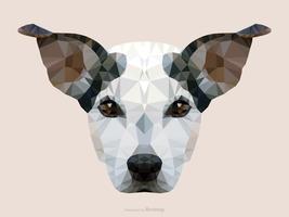 Ritratto astratto del cane di Jack Russel nella progettazione bassa di vettore di poli