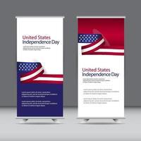 illustrazione felice di progettazione del modello di vettore di celebrazione del giorno dell'indipendenza degli Stati Uniti