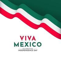 illustrazione del logo di progettazione del modello di vettore di celebrazione del giorno dell'indipendenza del Messico felice