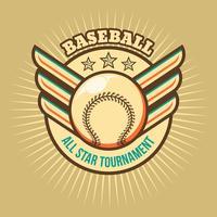 baseball all star vettore