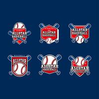 Vettore di emblemi di baseball All-Star