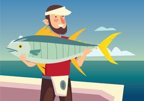 Cattura il pesce vettore