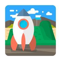 Illustrazione del razzo vettore