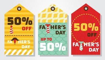 Pacchetto di vettore di Tag Day Sale padre