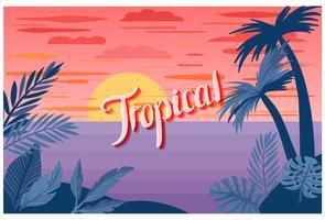 Vettori di paesaggio tropicale