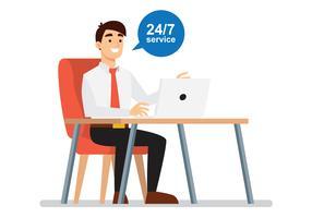 Servizio clienti online vettore